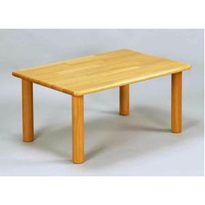 角テーブル120×60cm 丸脚(高さ 51cm)   ブロック社