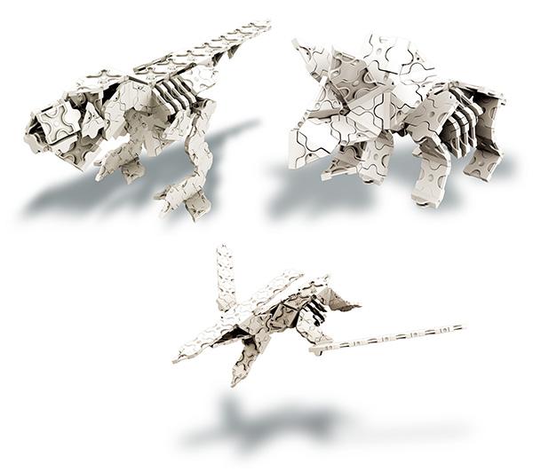 ラキュー LaQ ダイナソーワールド 恐竜骨格 モデル例